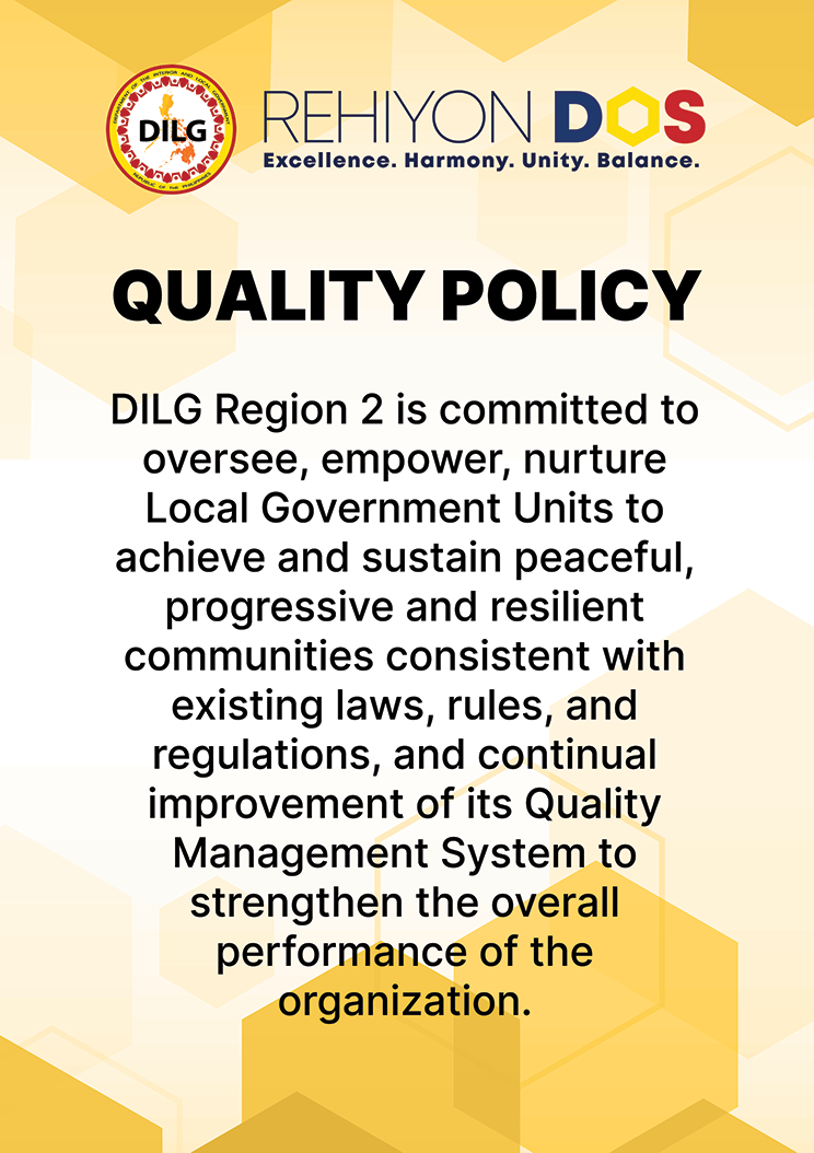 dilgr2 quality policy